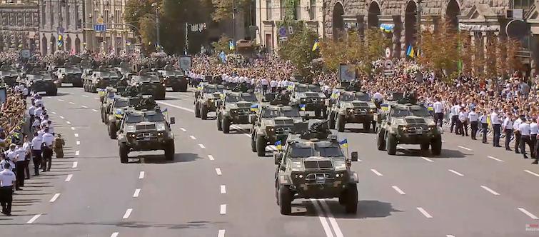 военный парад на Крещатике