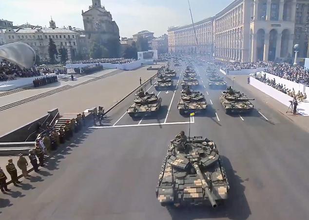 танки на Крещатике