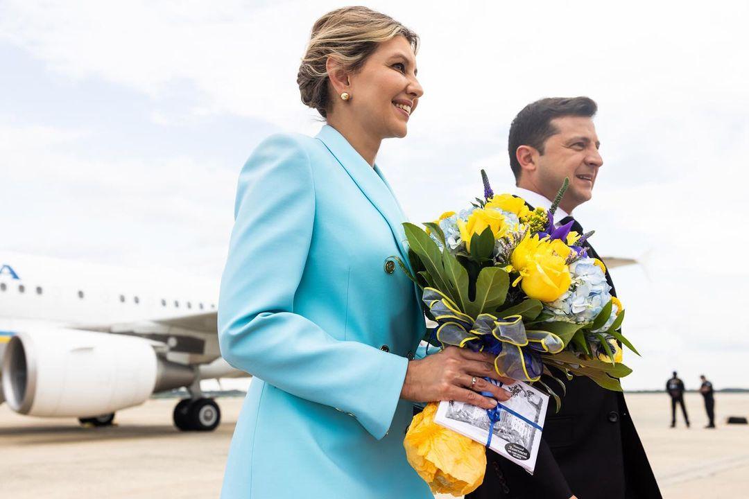 Фото в аэропорту - Владимир и Елена Зеленская прилетели в Вашингтон