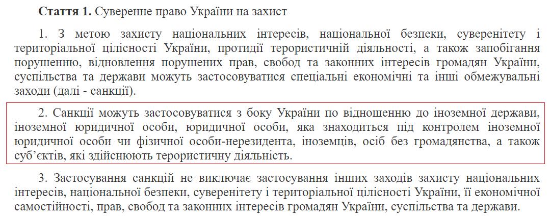 Суверенное право Украины на защиту