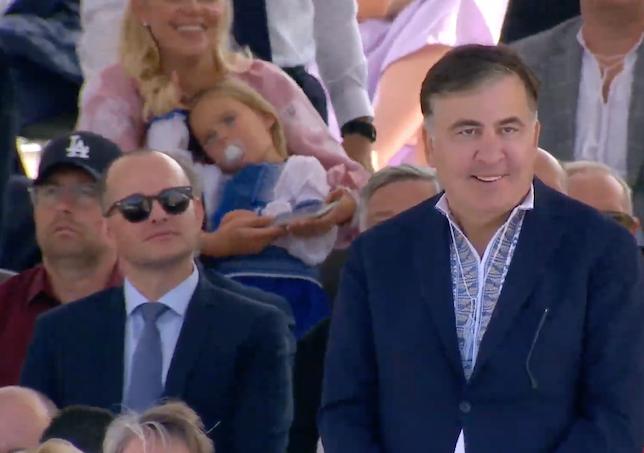 Михаил Саакашвили в вышиванке